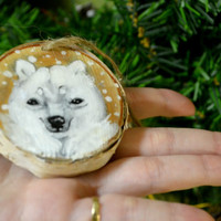 Polar Bear hand Painted Ornament Holiday