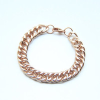 SPRING SALE - 20% OFF! Rose Gold chunky chain Bracelet - 24k gold plated