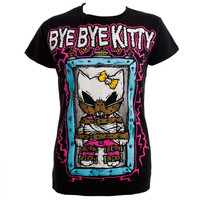 Bye Bye Kitty Shocker t shirt, black womens t shirts, Bye Bye Kitty UK