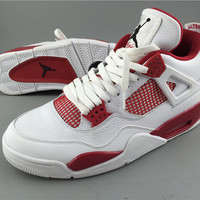 [FREE SHIPPING] AIR JORDAN 4 (WHITE / VARSITY RED ALTERNATE '89) CODE: 308497-106