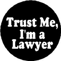 "TRUST ME I'M A LAWYER 1.25"" Magnet ~ Law Humor Funny"