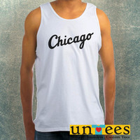 Chicago White Sox Jersey Logo Clothing Tank Top For Mens