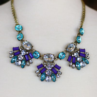 Uptown Girl Necklace {Purple + Aqua}