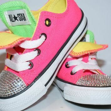 all star converse bling swarovski shoes baby girl boy childrens sneakers made with l