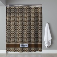 "Hot Best Seller Luxury Brown Coach Cute Free Shipping Shower Curtain 60"" x 72"""