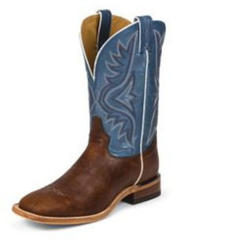 Tony Lama Mens Square Toe Pecan Bison Boots