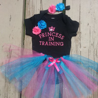 Princess Baby Girl Tutu Outfit - Princess In Training - Baby Shower Gift