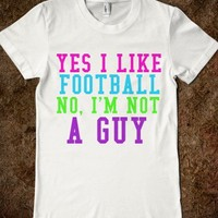 YES I LIKE FOOTBALL - glamfoxx.com