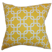 The Pillow Collection Qishn Geometric Cotton Pillow