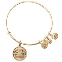 Boston Bruins Alex and Ani Russian Gold Bear Logo Charm Bracelet