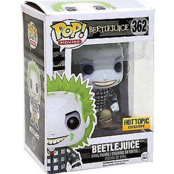 Beetlejuice #362 Pop! Movies Vinyl Figure (Hot Topic Ltd Ed Exclusive) Funko