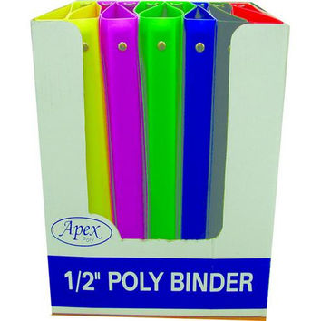3 Ring Poly Binder - .5 Inch
