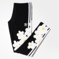 Adidas Originals 2018 Women's Big Floral Print Three Stripe Leggings F