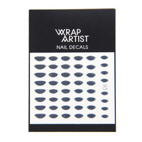Wrap Artist Nail Decals - Metallic Moon- Silver