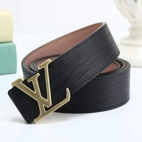 DCCKNQ2 LV Louis Vuitton Fashion Smooth Buckle Belt Leather Belt-2