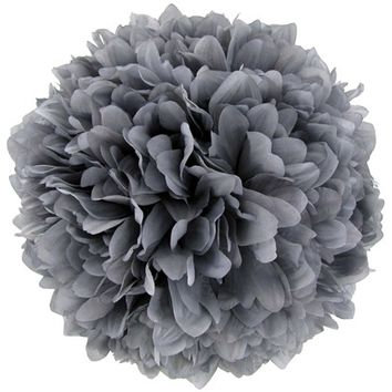 "10"" Gray Hanging Mum Ball 