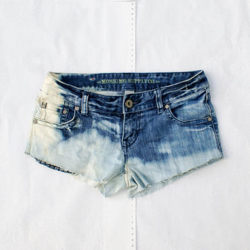 Ombre Size 3 Ready to Ship Distressed Cut-Off Denim Shorts Upcycled