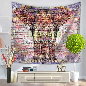 New Fashion Animals Elephant  Ethnic Home Decor Hanging Bohemian Abstract Living Hippie Mandala Printing Wall Tapestry