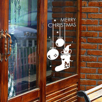 Merry Christmas New Year Decorative Stickers 3D Wall Stickers  Backdrop Stickers Removable Waterproof Home Decor Children'S Room