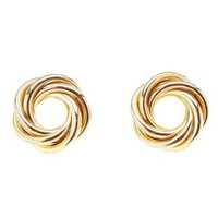 Gold Infinity Knot Stud Earrings by Charlotte Russe