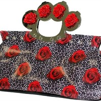 Too Fast - Knucks Bag - Roses And Leopard