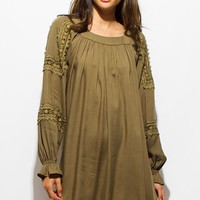 Olive Green Fall Dress