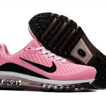Newest Nike Air Max 2017. 5 KPU Pink And Black Sneakers Women's Running Shoes
