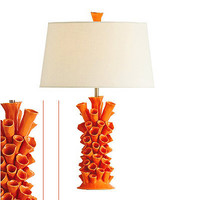 Cassidy Orange Coral Porcelain lamp