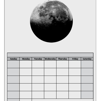 Moon of Earth Blank Calendar Dry Erase Board