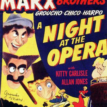 A Night At The Opera Marx Brothers Vintage Movie Poster