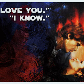 I love you I know Star Wars Valentine Card by RKRcreations on Etsy