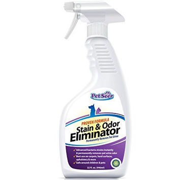 No Marking Enzyme Cleaner Housebreaking Spray Pet Odor Eliminator Stain Remover - Stop Cats From Peeing and Dog Re-marking - Keep Pets, Cat, Dogs, Rodent Urine Off Carpets, Rugs, Floors