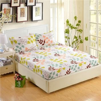 100% Polyester Fitted Mattress Cover Bedding Sets