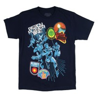 Ready Player One Action Sequence on Blue T-Shirt