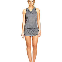 Nike Solid Hooded Cover-Up Dress