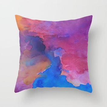 Close Your Eyes Throw Pillow by DuckyB