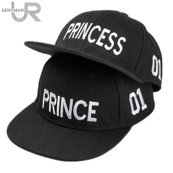 Trendy Winter Jacket Hot Sale PRINCE PRICESS Embroidery Snapback Hat Acrylic Boys Girls Baseball Cap Children Gifts Kids Hip-hop  Caps AT_92_12