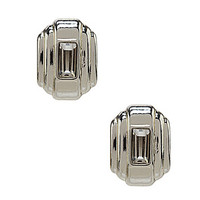Anne Klein Button Stud Earrings - Silver