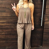 Rock This Town Jumper: Taupe