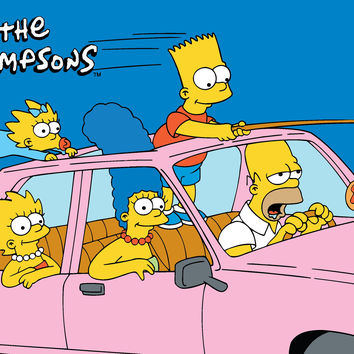 Fun Rugs Simpsons-MP Collection Are We There Yet? Area Rug