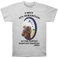 Parks And Recreation Men's  Li'l Sebastian T-shirt Heather