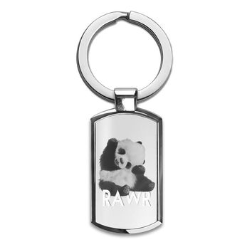 Rawr Cute Panda  Premium Stainless Steel Key Ring| Enjoy A Unique  & Personalized Key Hanger To Carry Your Keys W/ Style| Custom Quality Prints| Household Souvenirs By Styleart