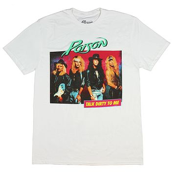 Poison American Rock Band Talk Dirty To Me Men's T-Shirt