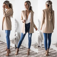 Casual Long Sleeved Jackets