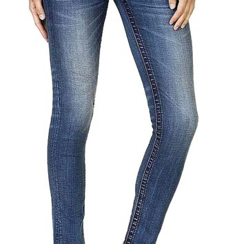 Miss Me Full Blossom Faux Flap Pocket Skinny Jeans