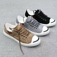 """Gucci"" Unisex Sport Casual Calfskin Fashion Simple Retro Plate Shoes Couple Sneakers"