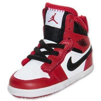Girls' Toddler Jordan 1 Skinny High Top Basketball Shoes
