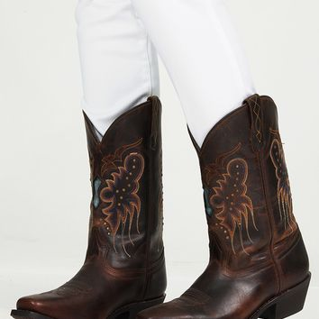 Cowgirls Dont Cry Boots: Dark Brown/Multi