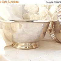 FALL SALE Silver Plated Paul Revere Bowls, Oneida Silversmiths, Home Decor, Vintage Kitchen, Retro Silver Plate Bowls