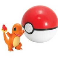 TOMY Pokemon Clip and Carry Poke Ball Charmander Action Figure